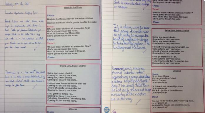 Analysing lyrics of Railroad songs that the character in our book may have heard.