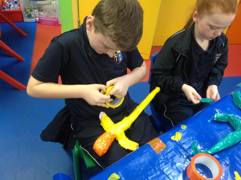 Making and attaching our lizrds' limbs