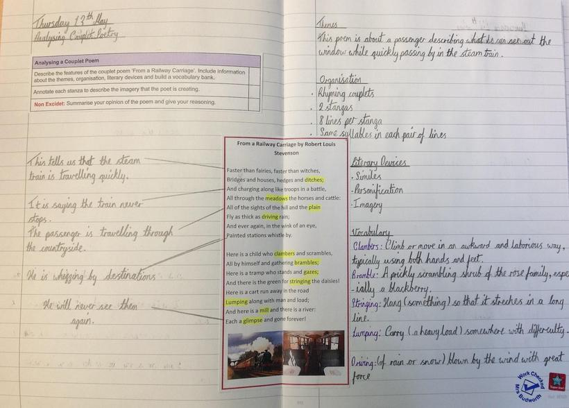 Analysing a couplet poem