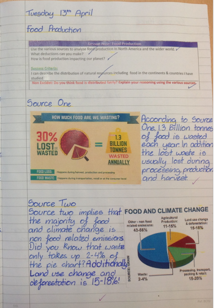 Analysing pie charts in Geography