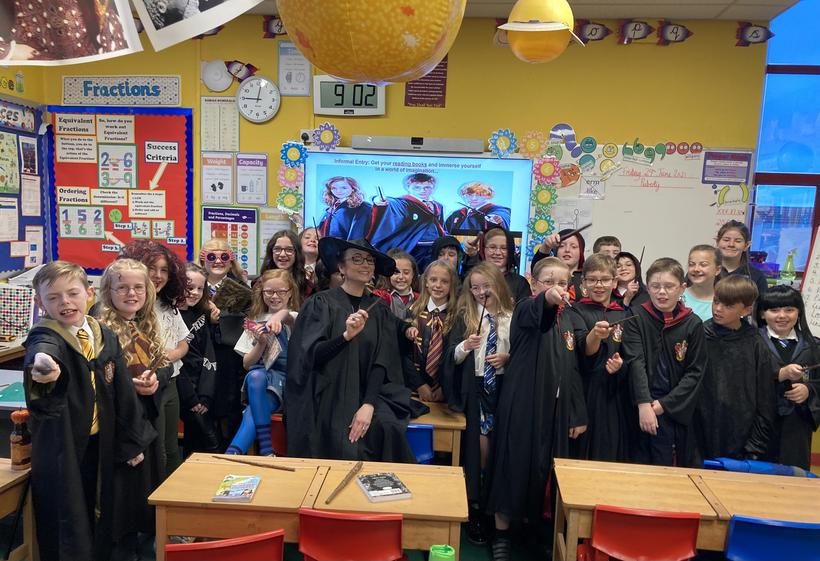 Class 11 on 'Harry Potter Day'