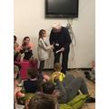 Gabriella gets 'Skier of the Day'.