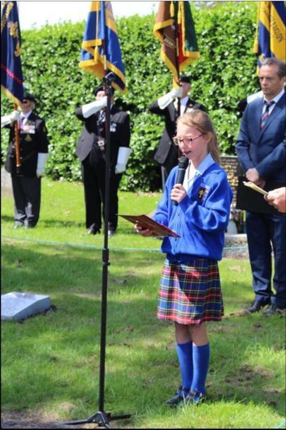 Speaking at the memorial site