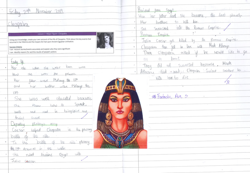 Writing an information text in History