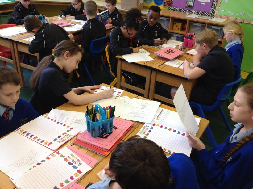 Writing emotion poems based on a wordless book