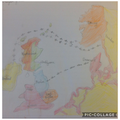 The route the Vikings took when invading Britain