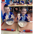 Year 3 - Getting messing making pizza dough