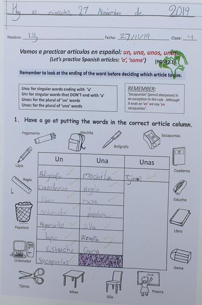Recognising objects in the classroom
