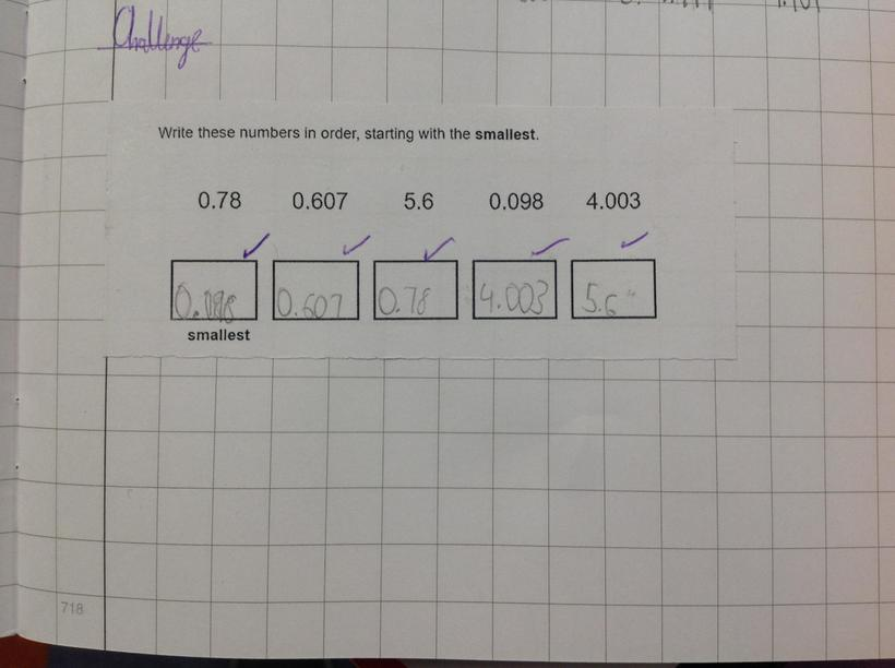 Oliver used his knowledge of place value.