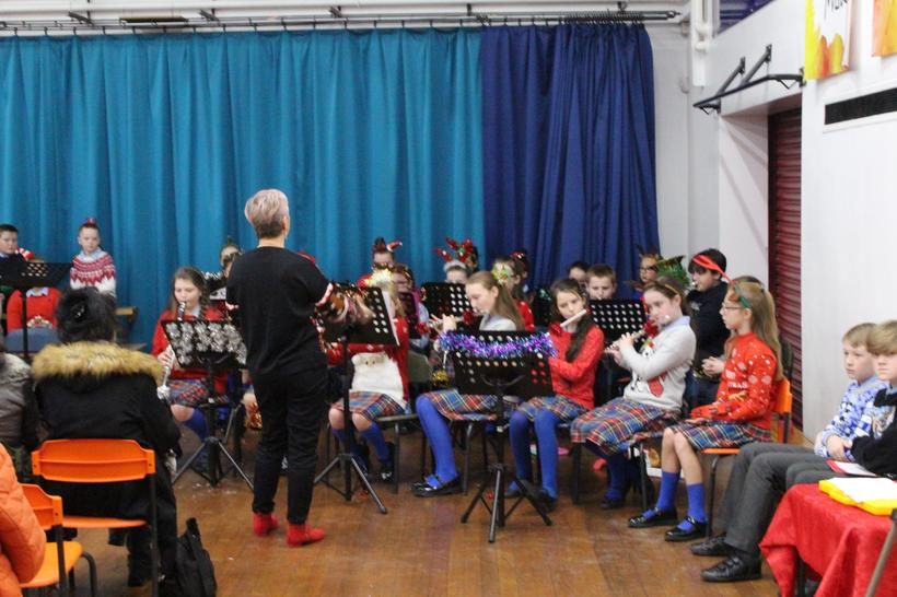 Y5 members of our school band performing