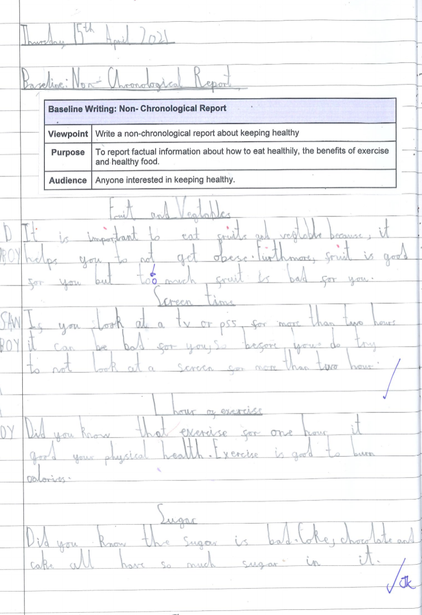 Baseline: Non-Chronological Report