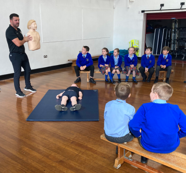 Learning essential skills in CPR.
