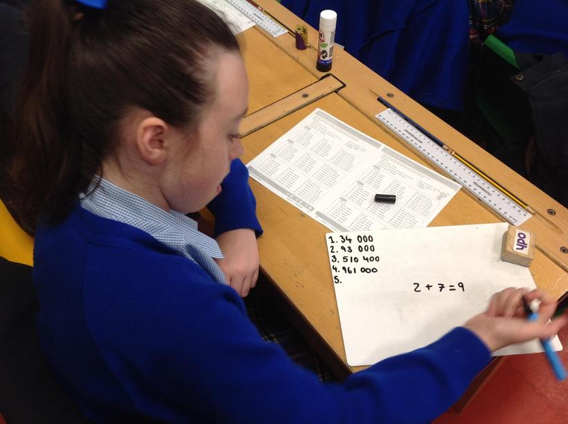 Using strategies to help with mental calculations