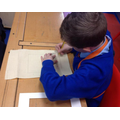 Year 6 - Marking out the stitching fabric