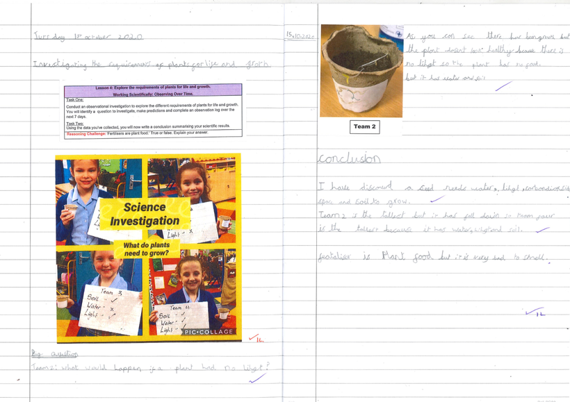 Using measures when conducting observational experiments in Science