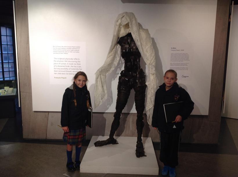 A sculpture interpreting slavery