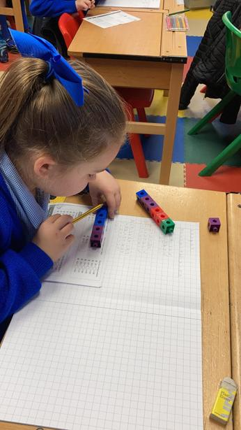 Concrete resources being used to aid mental subtraction