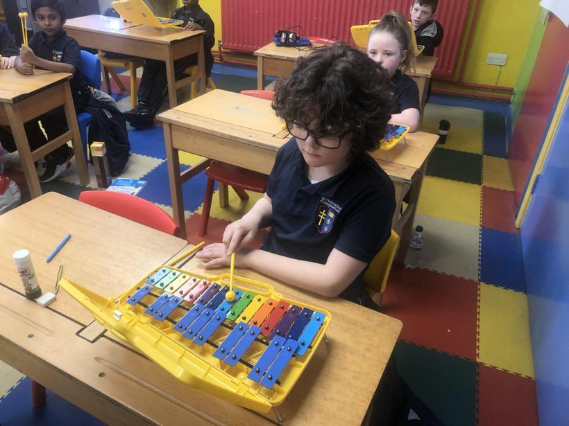 Learning the glockenspiel notes