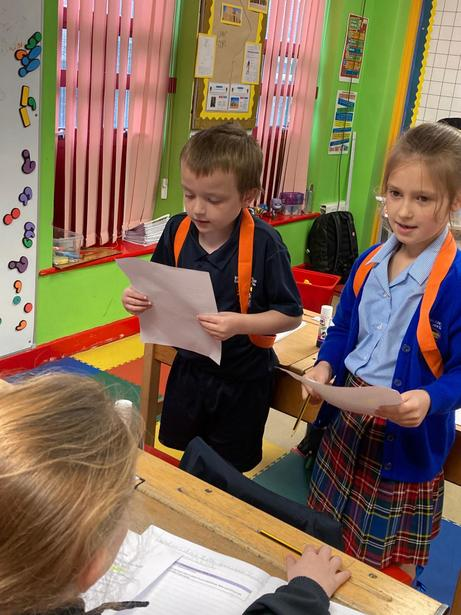 Practising our performance poetry
