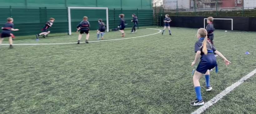 Acquiring the knowledge of using wingers to make the pitch bigger when attacking.