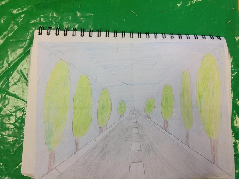 Using one-point perspective