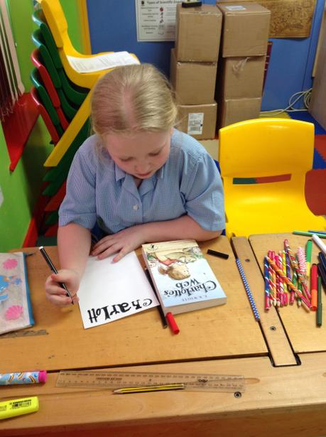 Drawing our class book as part of WBD