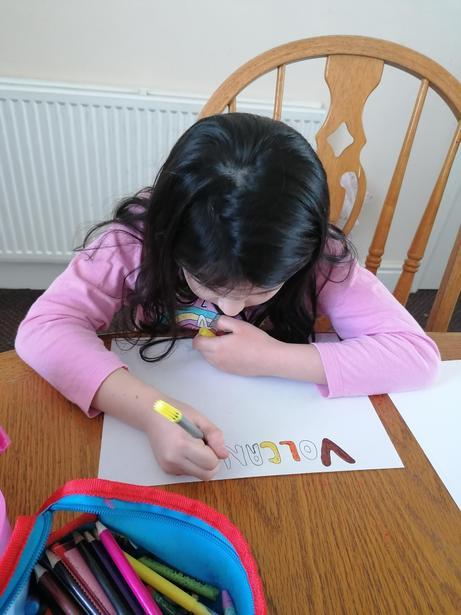Ellie working on her diagram