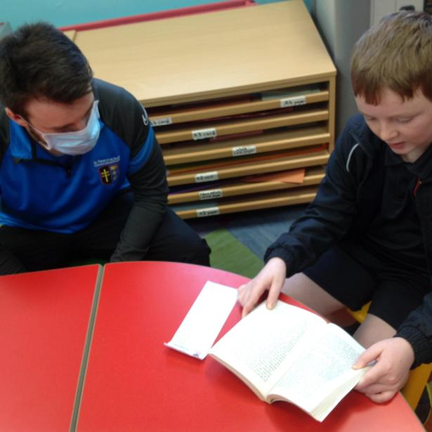A 'pupil reads' session working on achieving individual hotspots.