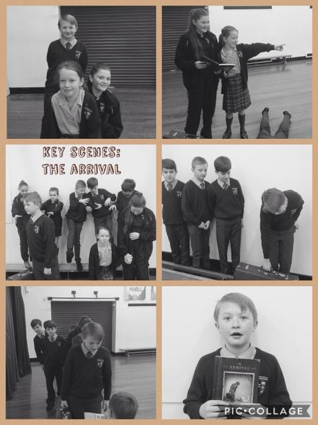 Dramatising key scenes from 'The Arrival'