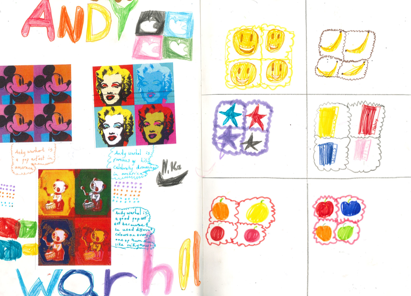 Take a look at some of our work on Andy Warhol!
