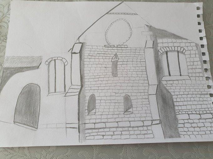 Wonderful sketch of our church by Isabelle!
