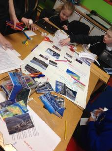 Creating colourful posters!