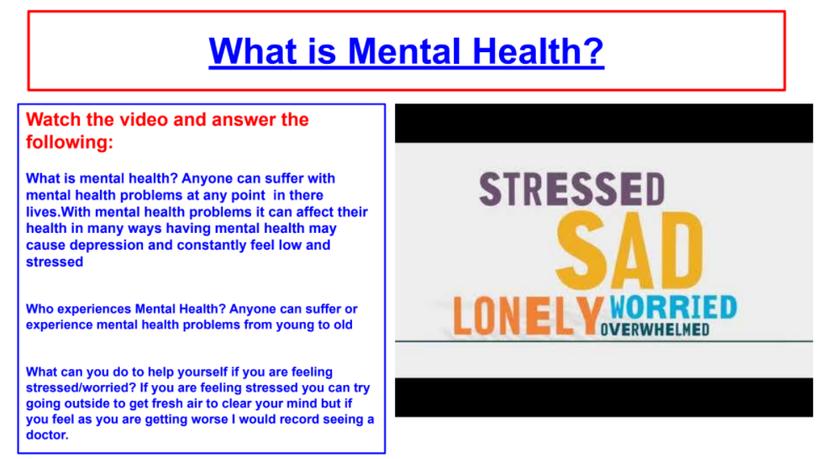 Everyone has mental health