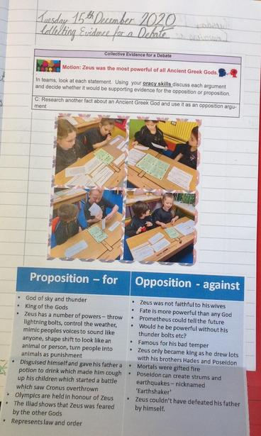 Gathering evidence for a debate