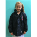 School coat with school crest.