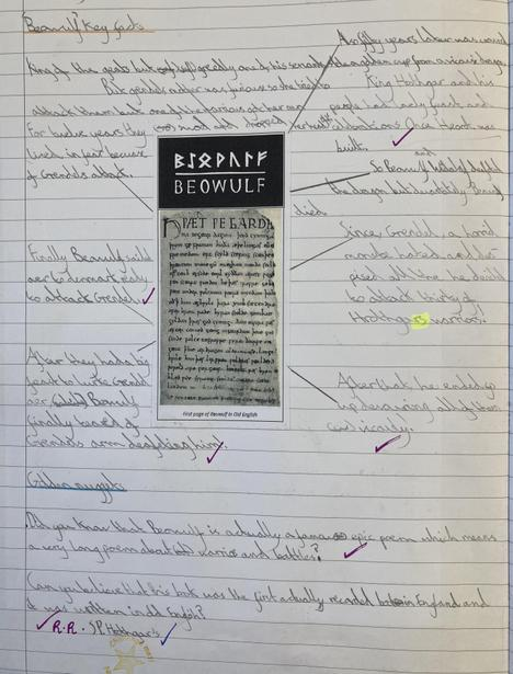 Researching the origins of the epic poem 'Beowulf'