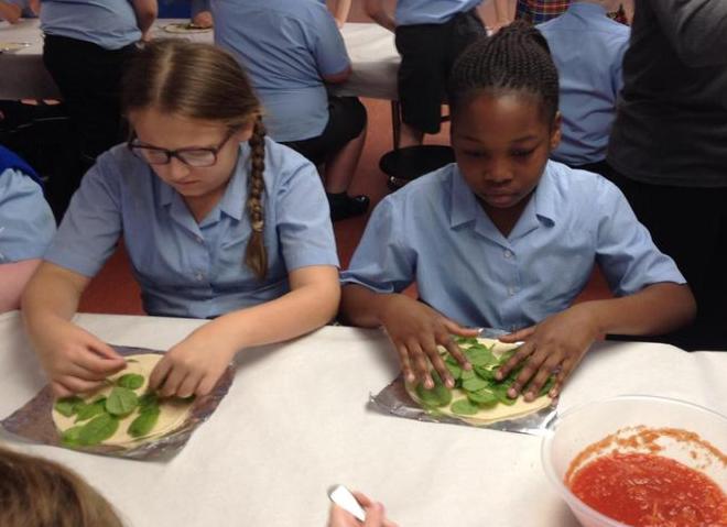 Choosing our salad leaves