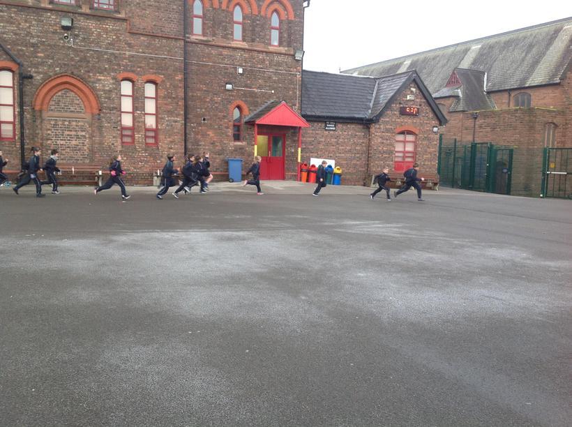 Children racing