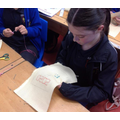Year 6 - Creating our NHS inspired embroidery designs