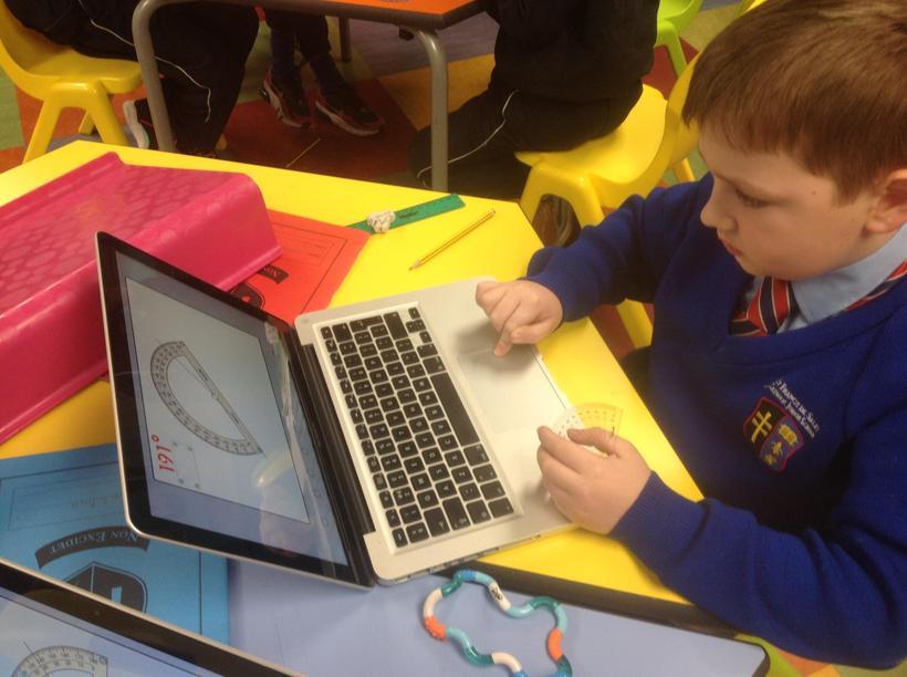 Using macbooks to measure angles