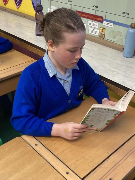 Reading 'Journey to the River Sea' during Story Sessions