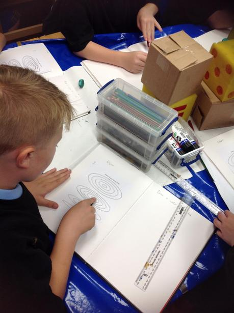 Practising ellipses to help with perspective.