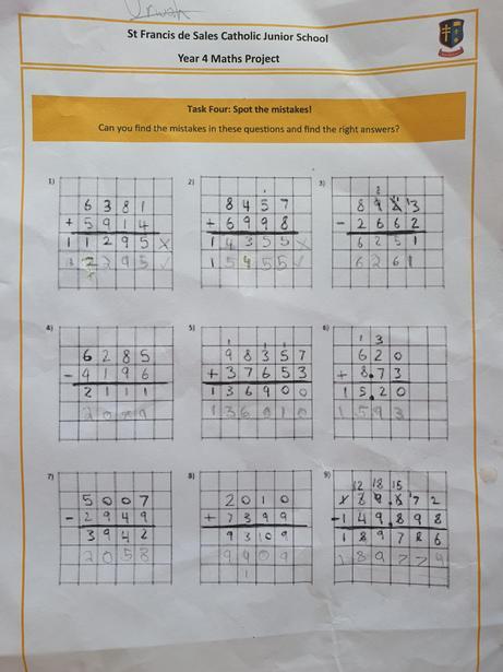 Excellent Maths work by Urwah!