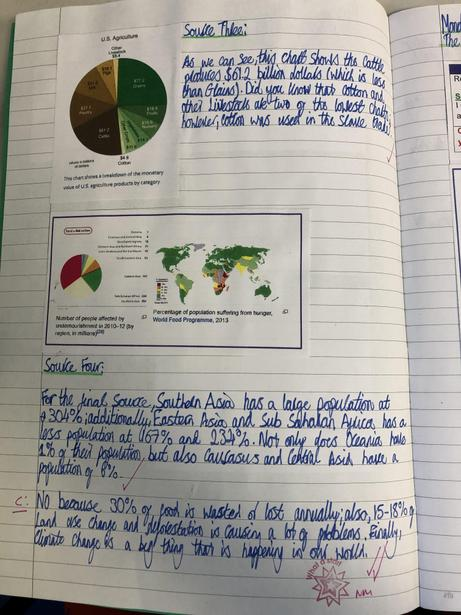 Comparing food production and distribution