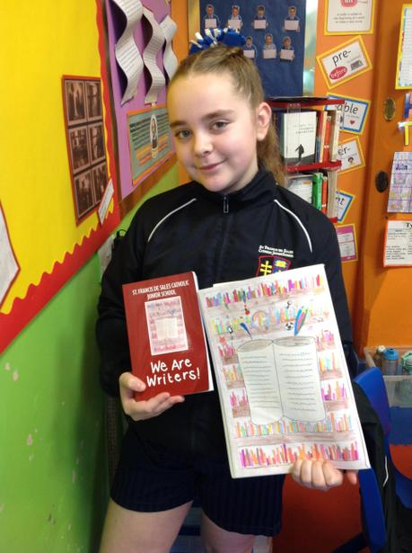 Niamh with her WINNING book cover design!