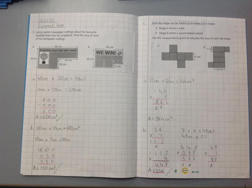 Calculating compound area