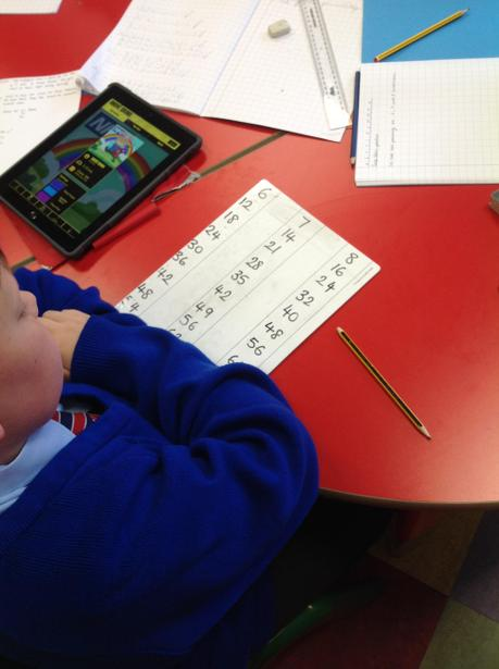Practising some trickier times tables!