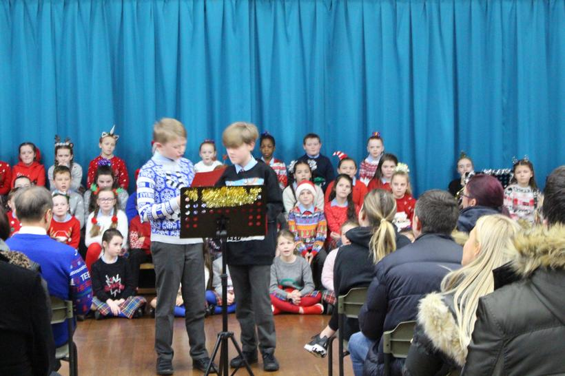 Presenting in our Christmas concert