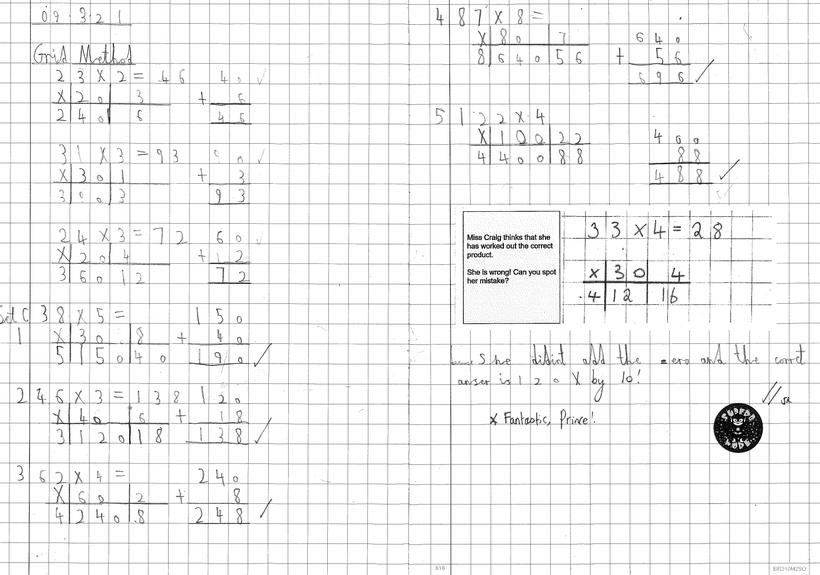 Independent Multiplication: Grid Method