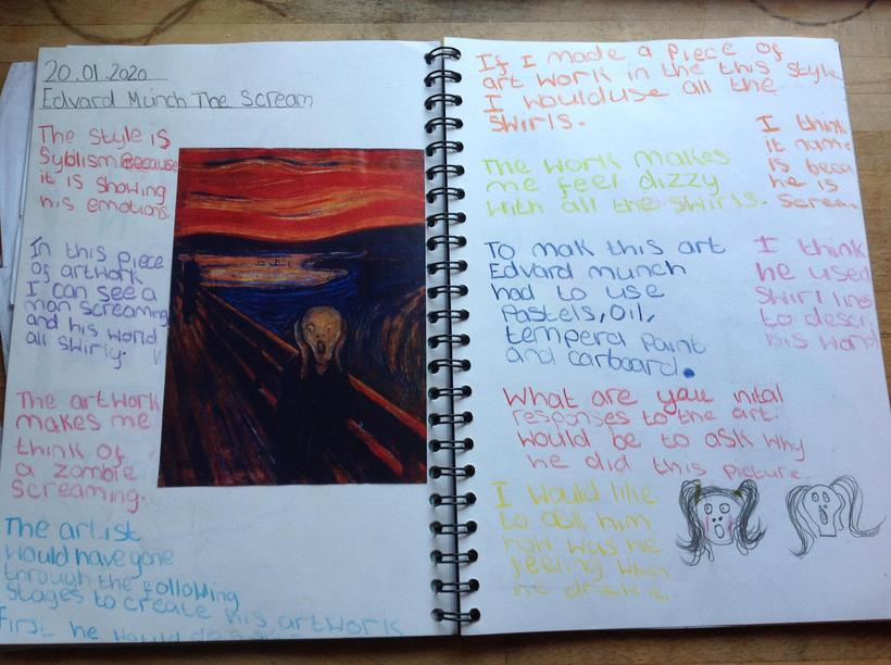 Analysing and evaluating 'The Scream'